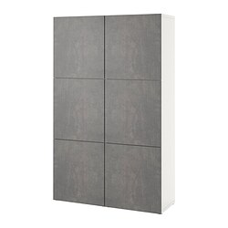 BESTÅ - 貯物組合連門, white/Kallviken dark grey concrete effect | IKEA 香港及澳門 - PE832057_S3