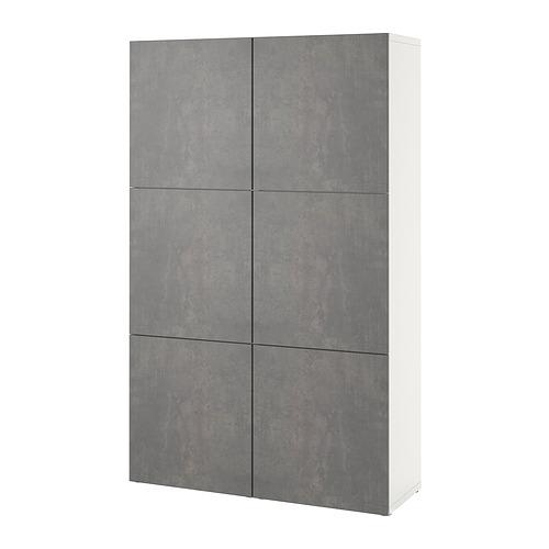 BESTÅ - 貯物組合連門, white/Kallviken dark grey concrete effect | IKEA 香港及澳門 - PE832057_S4