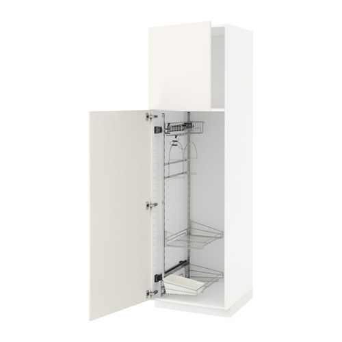 METOD - high cabinet with cleaning interior, white/Veddinge white | IKEA 香港及澳門 - PE515846_S4