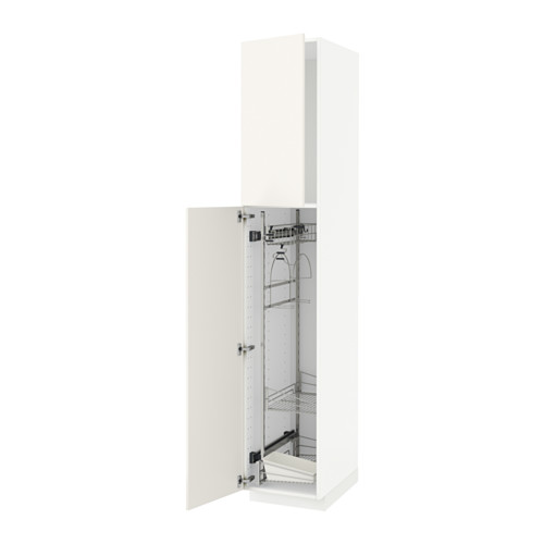 METOD - high cabinet with cleaning interior, white/Veddinge white   IKEA 香港及澳門 - PE515847_S4