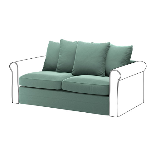 GRÖNLID cover for 2-seat sofa-bed section