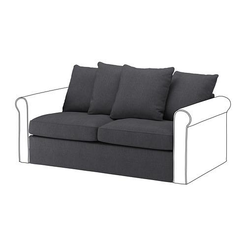 GRÖNLID - cover for 2-seat sofa-bed section, Sporda dark grey | IKEA Hong Kong and Macau - PE690000_S4