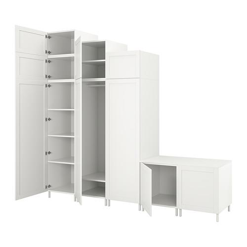 PLATSA wardrobe with 9 doors