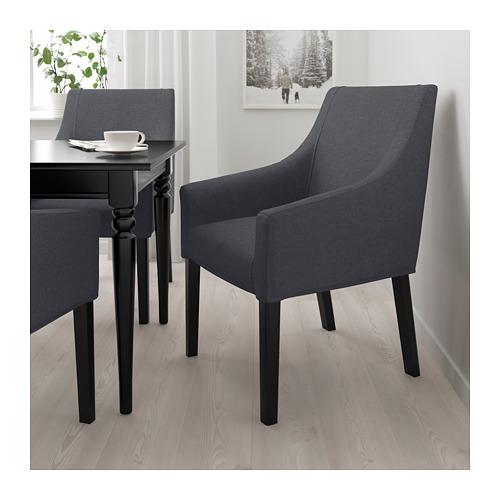 SAKARIAS - 扶手椅, 黑色/Sporda 深灰色 | IKEA 香港及澳門 - PE690026_S4