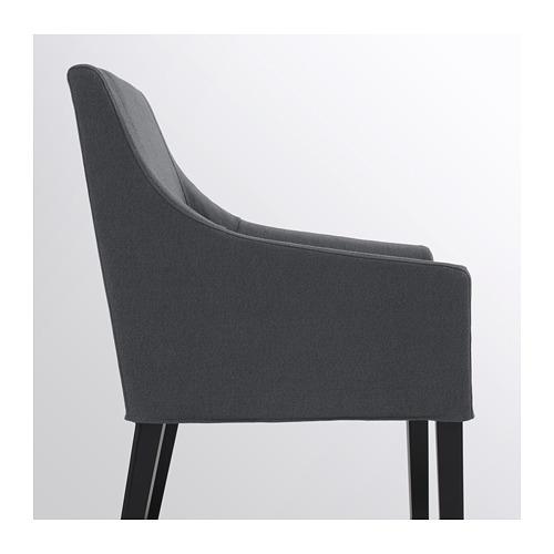 SAKARIAS - 扶手椅, 黑色/Sporda 深灰色 | IKEA 香港及澳門 - PE690029_S4
