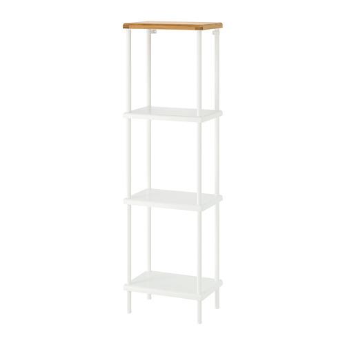 DYNAN - 層架組合, 白色/竹紋   IKEA 香港及澳門 - PE733307_S4
