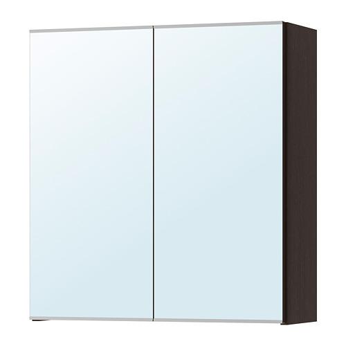 LILLÅNGEN - mirror cabinet with 2 doors, black-brown | IKEA Hong Kong and Macau - PE733312_S4