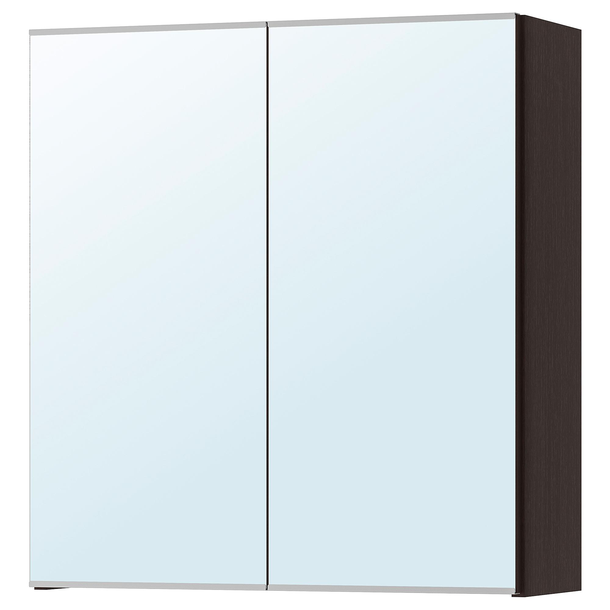Lillangen Mirror Cabinet With 2 Doors Black Brown Ikea Hong