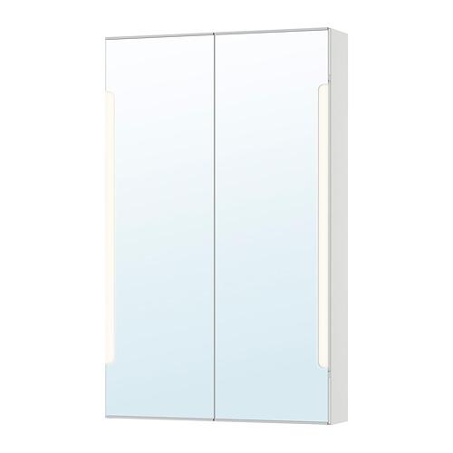 STORJORM 雙門鏡櫃/內置燈具