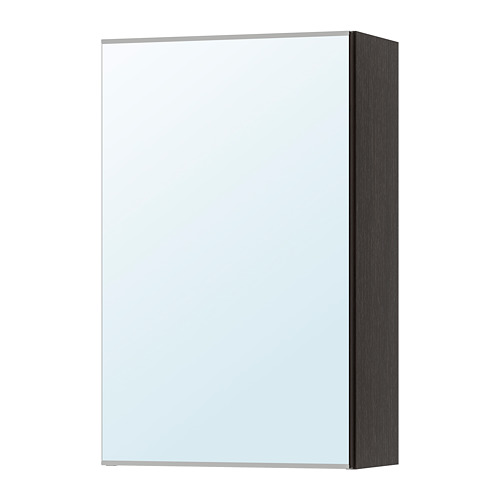 LILLÅNGEN - mirror cabinet with 1 door, black-brown | IKEA Hong Kong and Macau - PE733341_S4