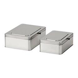 ANILINARE - 連蓋貯物盒,2件套裝, 金屬 | IKEA 香港及澳門 - PE788068_S3