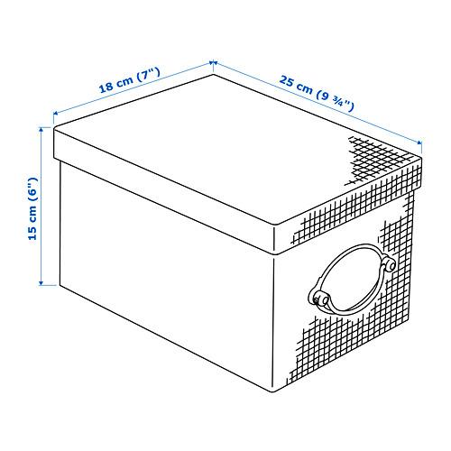 KVARNVIK 連蓋貯物盒