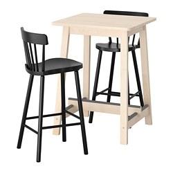 NORRARYD/NORRÅKER - 吧檯連2張高腳凳, 樺木/黑色 | IKEA 香港及澳門 - PE733375_S3