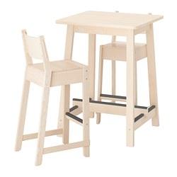 NORRÅKER/NORRÅKER - bar table and 2 bar stools, birch birch | IKEA Hong Kong and Macau - PE733383_S3