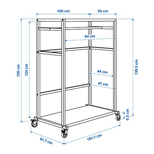 RÅVAROR - storage unit on castors, black | IKEA Hong Kong and Macau - PE787958_S4