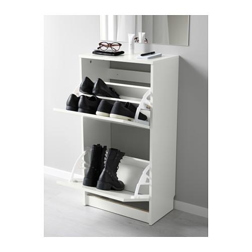 BISSA - 兩格鞋櫃, 白色 | IKEA 香港及澳門 - PE578015_S4