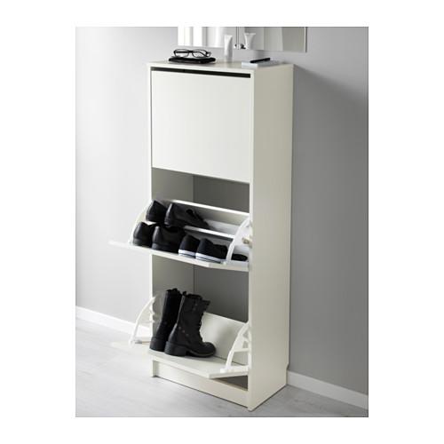 BISSA - 三格鞋櫃, 白色 | IKEA 香港及澳門 - PE578017_S4
