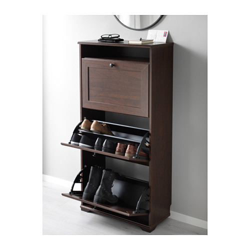 BRUSALI - shoe cabinet with 3 compartments, brown   IKEA Hong Kong and Macau - PE578018_S4