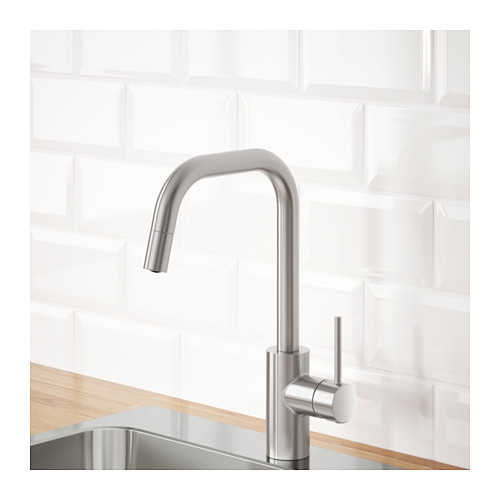ÄLMAREN - kitchen mixer tap w pull-out spout, stainless steel colour | IKEA Hong Kong and Macau - PE642986_S4