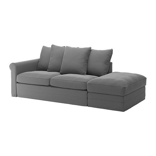 GRÖNLID - 三座位梳化床布套, 開放式/Ljungen 暗灰色 | IKEA 香港及澳門 - PE690175_S4