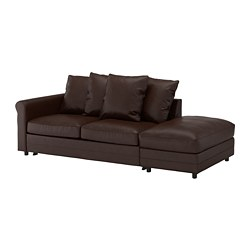 GRÖNLID - 3-seat sofa-bed, with open end/Kimstad dark brown | IKEA Hong Kong and Macau - PE690180_S3