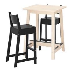 NORRÅKER/NORRÅKER - bar table and 2 bar stools, birch/black | IKEA Hong Kong and Macau - PE733384_S3
