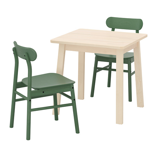 RÖNNINGE/NORRÅKER table and 2 chairs