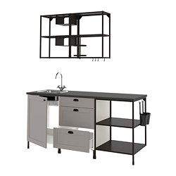 ENHET - kitchen, anthracite/grey frame | IKEA Hong Kong and Macau - PE775340_S3