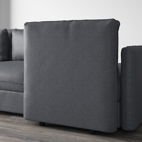 VALLENTUNA - 3-seat modular sofa with sofa-bed, with storage Hillared/dark grey | IKEA Hong Kong and Macau - PE606136_S4