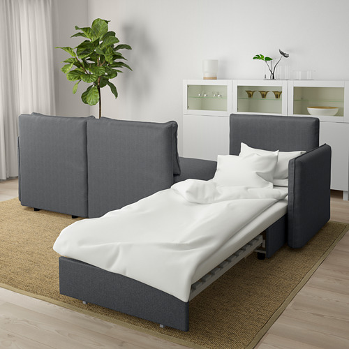 VALLENTUNA - 3-seat modular sofa with sofa-bed, with storage Hillared/dark grey | IKEA Hong Kong and Macau - PE666293_S4