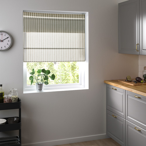 RINGBLOMMA - Roman blind, 120x160, white/green/striped | IKEA Hong Kong and Macau - PE787972_S4