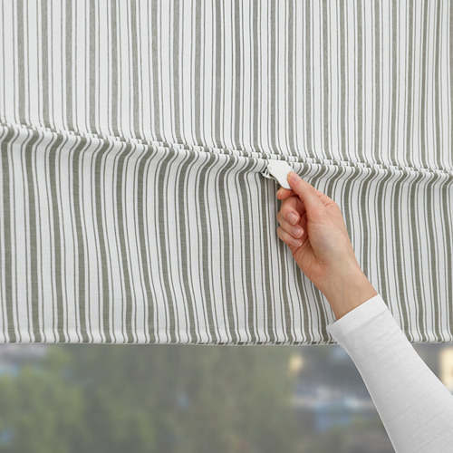 RINGBLOMMA - Roman blind, 120x160, white/green/striped | IKEA Hong Kong and Macau - PE787971_S4