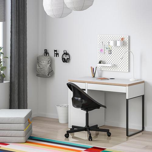 MICKE - desk, 105x50x75 cm, white/anthracite | IKEA Hong Kong and Macau - PE787990_S4