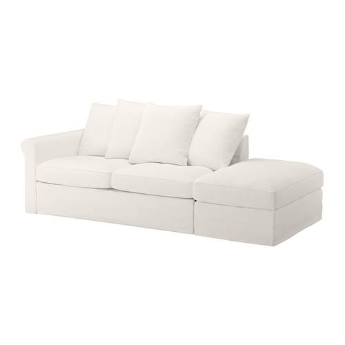 GRÖNLID - 3-seat sofa-bed, with open end/Inseros white | IKEA Hong Kong and Macau - PE690157_S4