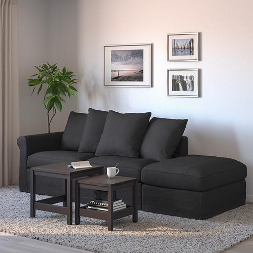 GRÖNLID - 3-seat sofa-bed, with open end/Sporda dark grey   IKEA Hong Kong and Macau - PE690169_S4