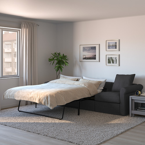 GRÖNLID - 3-seat sofa-bed, Sporda dark grey | IKEA Hong Kong and Macau - PE690210_S4