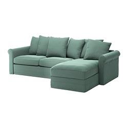 GRÖNLID - 3-seat sofa-bed, with chaise longue/Ljungen light green   IKEA Hong Kong and Macau - PE690289_S3