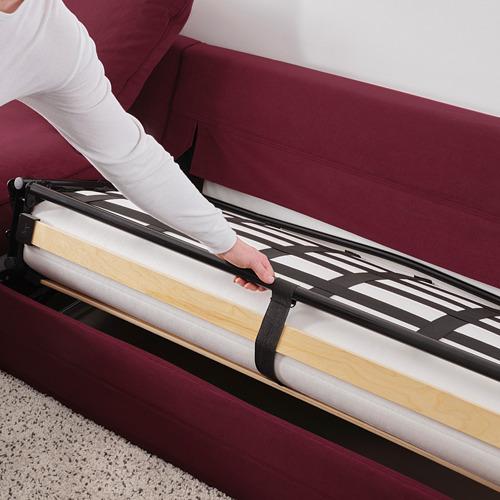 GRÖNLID 4座位角位梳化床