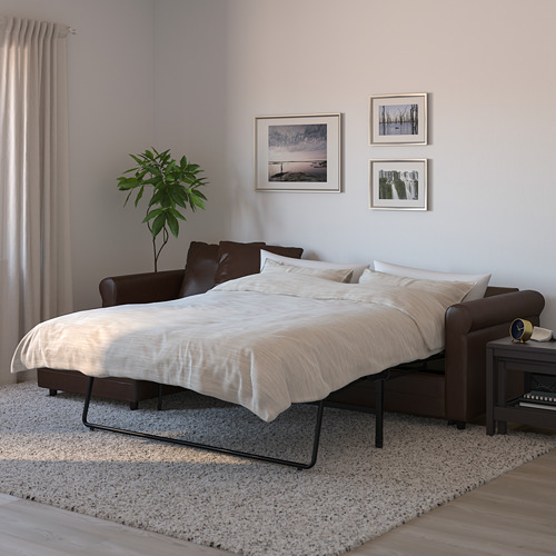GRÖNLID - 3-seat sofa-bed, with chaise longue/Kimstad dark brown | IKEA Hong Kong and Macau - PE690243_S4
