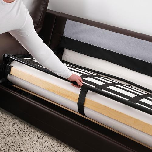 GRÖNLID - corner sofa-bed, 4-seat, with open end/Kimstad dark brown | IKEA Hong Kong and Macau - PE690244_S4