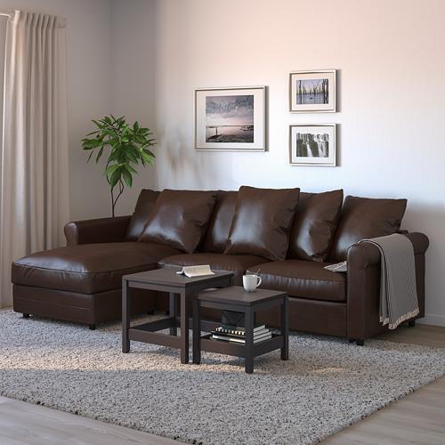 GRÖNLID - 3-seat sofa-bed, with chaise longue/Kimstad dark brown | IKEA Hong Kong and Macau - PE690271_S4
