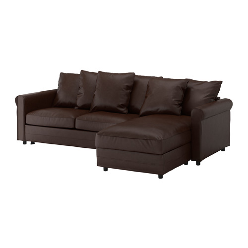 GRÖNLID - 3-seat sofa-bed, with chaise longue/Kimstad dark brown | IKEA Hong Kong and Macau - PE690245_S4
