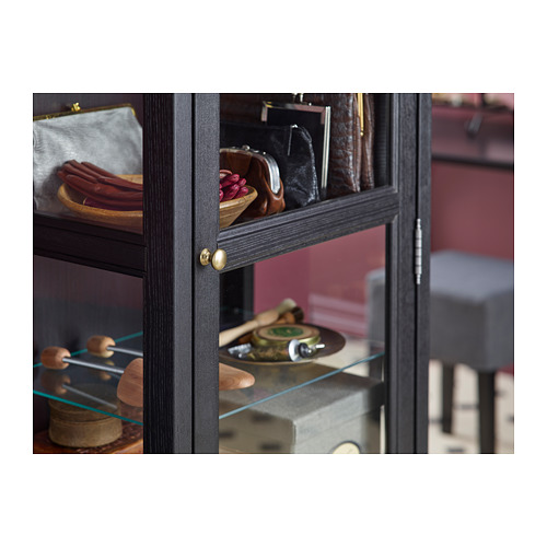 MALSJÖ - 玻璃門貯物櫃, 染黑 | IKEA 香港及澳門 - PH135771_S4