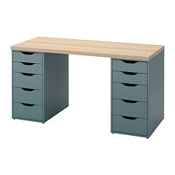 ALEX/LAGKAPTEN - 書檯, white stained oak effect/grey-turquoise | IKEA 香港及澳門 - PE832399_S3