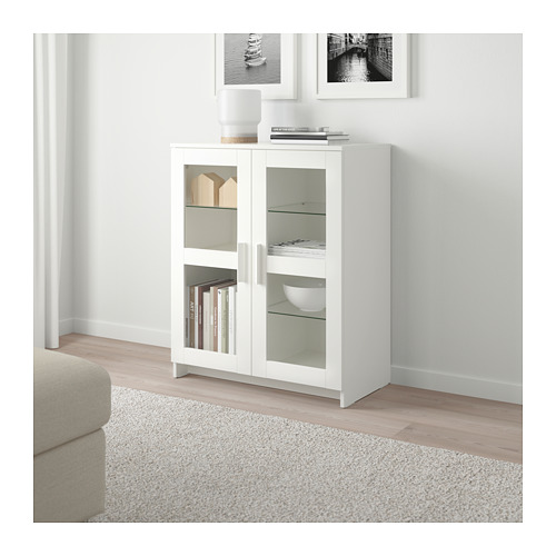 BRIMNES - cabinet with doors, glass/white | IKEA Hong Kong and Macau - PE690305_S4