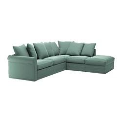 GRÖNLID - corner sofa-bed, 4-seat, with open end/Ljungen light green   IKEA Hong Kong and Macau - PE690346_S3