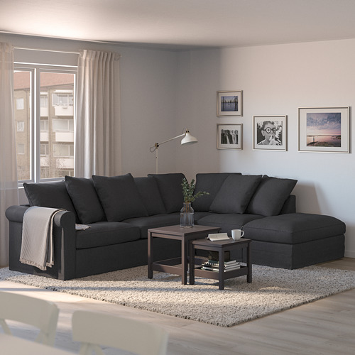 GRÖNLID - corner sofa-bed, 4-seat, with open end/Sporda dark grey | IKEA Hong Kong and Macau - PE690329_S4