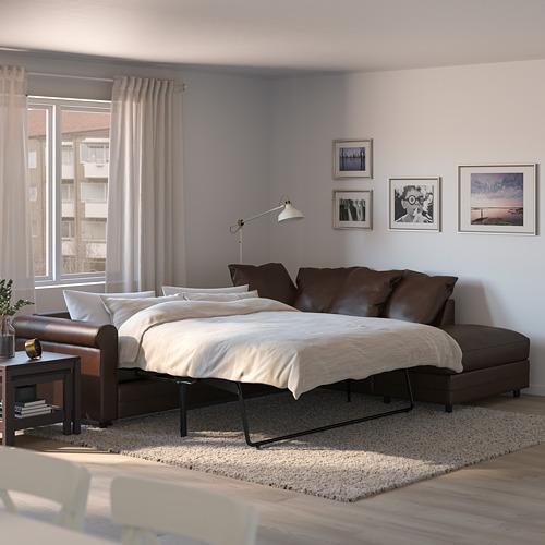 GRÖNLID - corner sofa-bed, 4-seat, with open end/Kimstad dark brown | IKEA Hong Kong and Macau - PE690321_S4