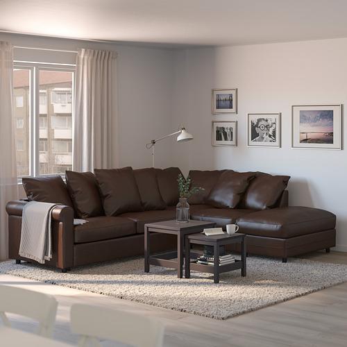GRÖNLID - corner sofa-bed, 4-seat, with open end/Kimstad dark brown | IKEA Hong Kong and Macau - PE690322_S4
