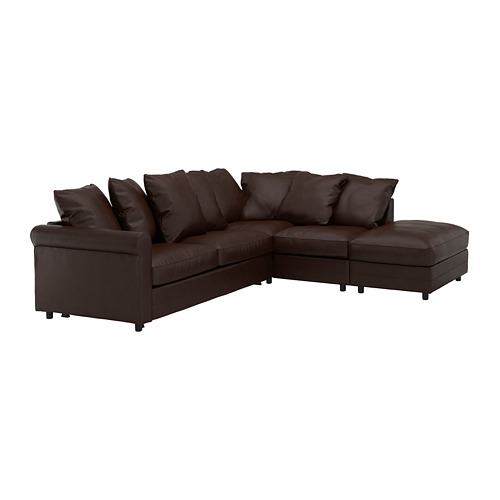 GRÖNLID - corner sofa-bed, 4-seat, with open end/Kimstad dark brown | IKEA Hong Kong and Macau - PE690320_S4